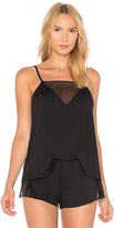 Eberjey Greta Cami in Black. - size L (also in M,S)