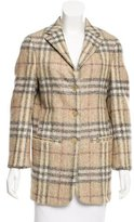 Burberry Wool Check Patterned Coat