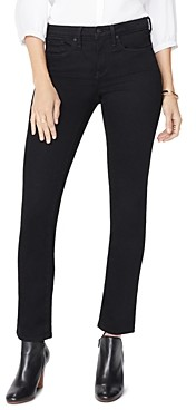 NYDJ Petites Sheri Slim Ankle Jeans in Black