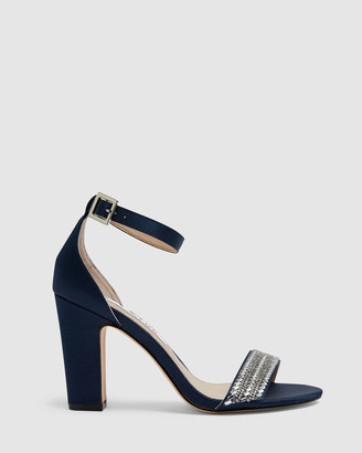 Nina Women's Navy Open Toe Heels - Suzette - Size One Size, 10 at The Iconic