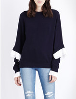 Clu Frilled cotton-jersey sweatshirt