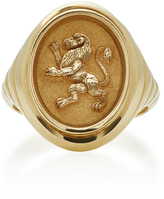 Retrouvai 14K Gold Lion Ring