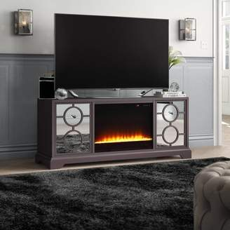 """Mercer41 McMillian TV Stand for TVs up to 60"""" with Electric Fireplace Mercer41"""