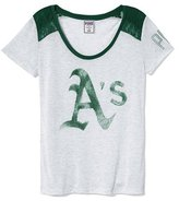 Victoria's Secret PINK Oakland Athletics Lace High-low Tee