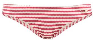 Solid & Striped The Elle Striped Ribbed Bikini Briefs - Womens - Pink Stripe