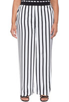 ELOQUII Plus Size Striped Pant
