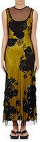 Dries Van Noten Women's Delile Embellished Tulle Dress-Yellow