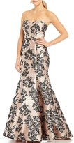 B. Darlin Strapless Floral Print Trumpet Dress