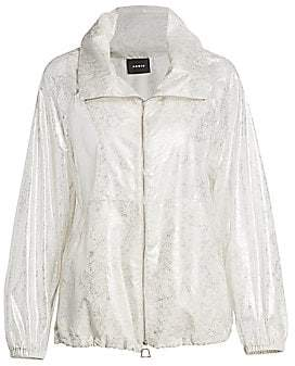 Akris Women's Veronique Lurex Silk Foil Anorak Jacket