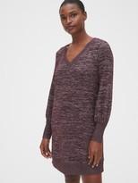 Gap Softspun Blouson Sleeve V-Neck Dress
