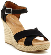 Toms Canvas Strappy Wedge Sandal