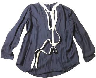 Carven Navy Silk Top for Women