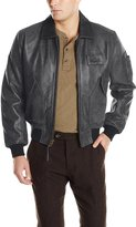Alpha Industries Men's Leather CWU 45/P Bomber Jacket