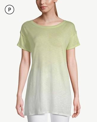 Zenergy Petite Ombre Short-Sleeve Pima Cotton Tunic