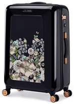 "Ted Baker Medium Gem Gardens 26"" Hard Shell Spinner Suitcase - Black"