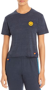 Aviator Nation Smiley Embroidered Tee - 100% Exclusive