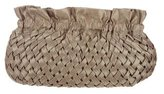 Reiss Nylon Basket Weave Clutch
