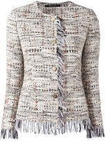 Tagliatore tweed buttoned jacket - women - Cotton/Acrylic/Polyamide/Viscose - 42