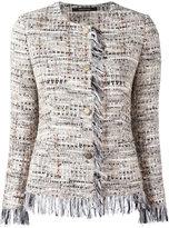 Tagliatore tweed buttoned jacket - women - Cotton/Polyamide/Polyester/Cupro - 42