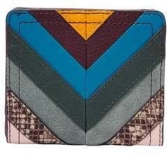 Fossil Logan Rfid Bifold Wallet Purple Multi