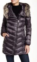 Rachel Roy Faux Fur Trim Hooded Puffer Jacket