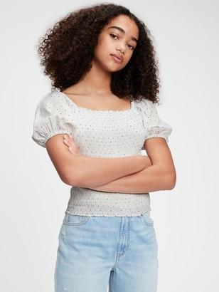 Gap Teen Puff Sleeve Shirt