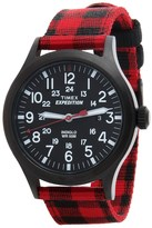 Timex Expedition Scout Buffalo Check Watch - Nylon Strap