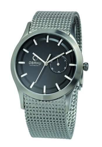 Obaku Men's V124GCBMC2 Dial Stainless Steel Date Watch