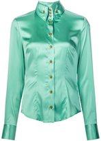Vivienne Westwood high button down shirt - women - Silk/Spandex/Elastane - 40