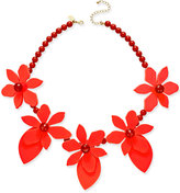 Kate Spade Lovely Lillies Gold-Tone Enamel Floral Statement Necklace