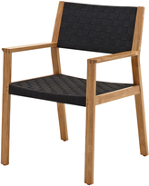 Houseology Gloster Maze Dining Chair with Arms - Noir