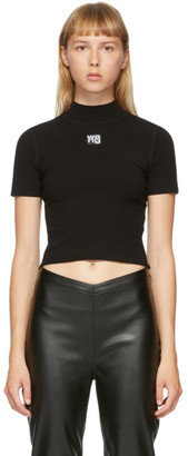 Alexander Wang Black Logo Patch T-Shirt