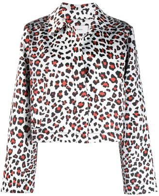 Marques Almeida Leopard print coat