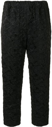Comme des Garcons Abstract-Print Textured Trousers