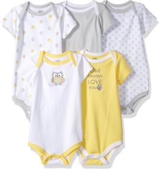 Luvable Friends Baby Infant 5 Pack Bodysuits