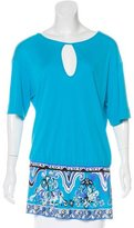 Emilio Pucci Short Sleeve Tunic Top