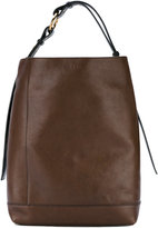 Marni oversized tote - women - Calf Leather/Brass - One Size