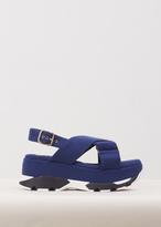 Marni ocean heavy felt platform sandal