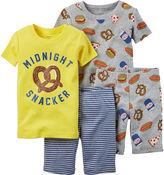 Carter's 4-pc. Snacker Pajama Set - Baby Boys newborn-24m