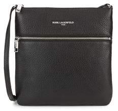 Karl Lagerfeld Paris Bouquet Leather Crossbody Bag