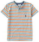 Lucky Brand Big Boys 8-20 Long Beach Striped Henley Tee