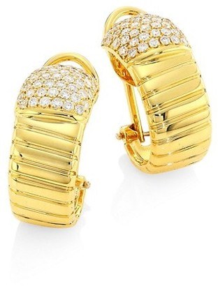 Alberto Milani Via Brera 18K Gold & Diamond Coiled Hoop Earrings