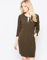 Vila Shift Dress With T Bar Detail