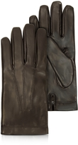 Moreschi Siberia Dark Brown Leather Men's Gloves w/Cashmere Lining