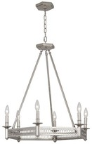 Rob-ert Williamsburg 6 - Light Candle Style Wagon Wheel Chandelier Robert Abbey Finish: Polished Nickel