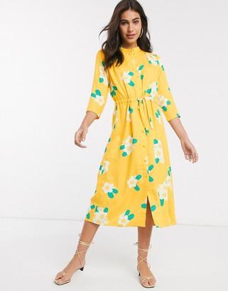 People Tree midi dress in floral print