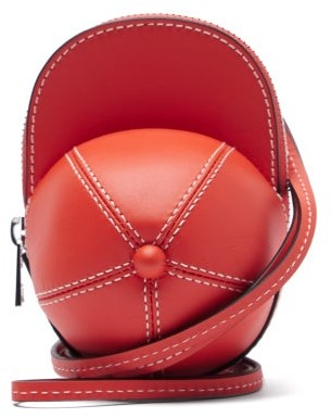J.W.Anderson Nano Cap Leather Bag - Red