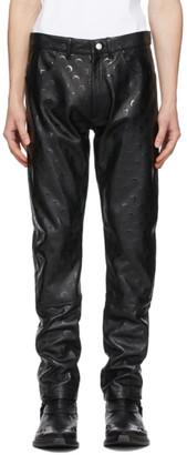 Marine Serre Black Regenerated Leather Pants
