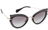 Miu Miu Satin Cat Eye Sunglasses