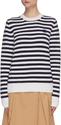 Acne Studios Face patch stripe knit sweater